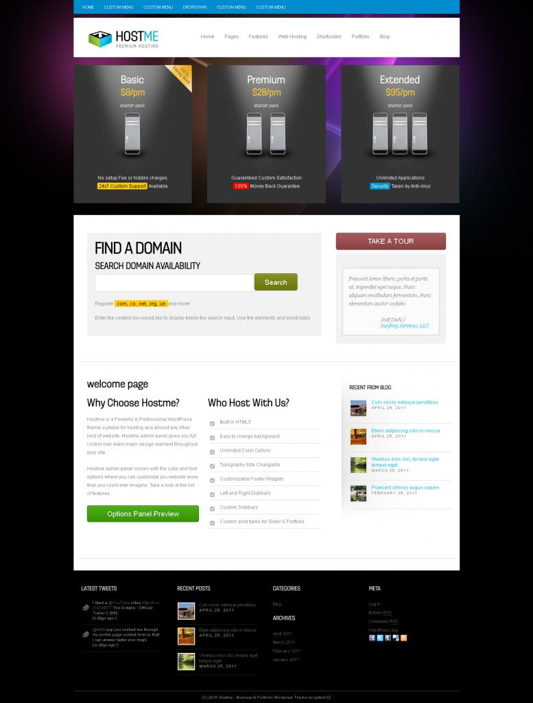 hostme-premium-hosting-business-wordpress-theme