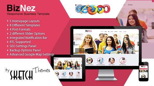 Biznez - Responsive Multipurpose WordPress Theme